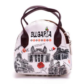 Сувенирна дамска чанта, изработена от изкуствена кожа