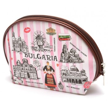 Сувенирно портмоне с цип, изработено от изкуствена кожа с изобразени - Варненската катедрала, храм - паметника Ал