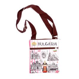 Малка чанта за рамо с регулируема презрамка и джобове с цип