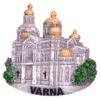 Сувенирна релефна фигурка с магнит - Варненската катедрала