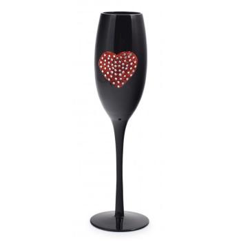 Чаша за бяло вино или шампанско, изработена от цветно стъкло