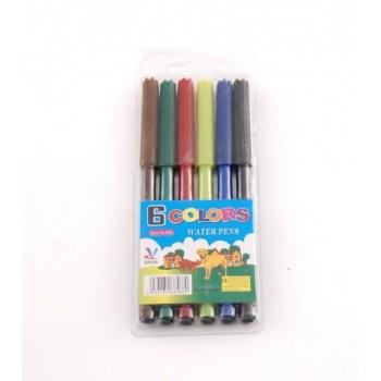 Комплект цветни флумастри - 6 броя