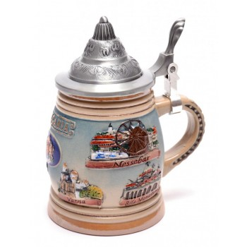 Сувенирна порцеланова чаша с метално капаче