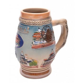 Сувенирна порцеланова чаша, декорирана с красиви релефни орнаменти, Гербът на Р