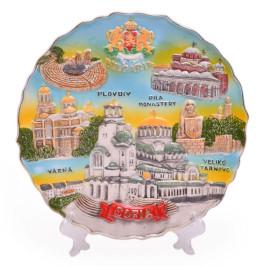 Сувенирна релефна чинийка с поставка
