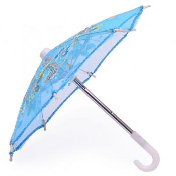 Парти артикул - мини чадърче, изработено от нежен плат с фина бродерия