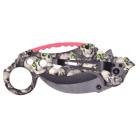 Сгъваем джобен нож с черно острие, декориран с черепи със зелени очи Дължина: 19см