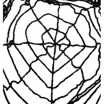 Парти аксесоар - черна паяжина, подходяща за тематична декорация