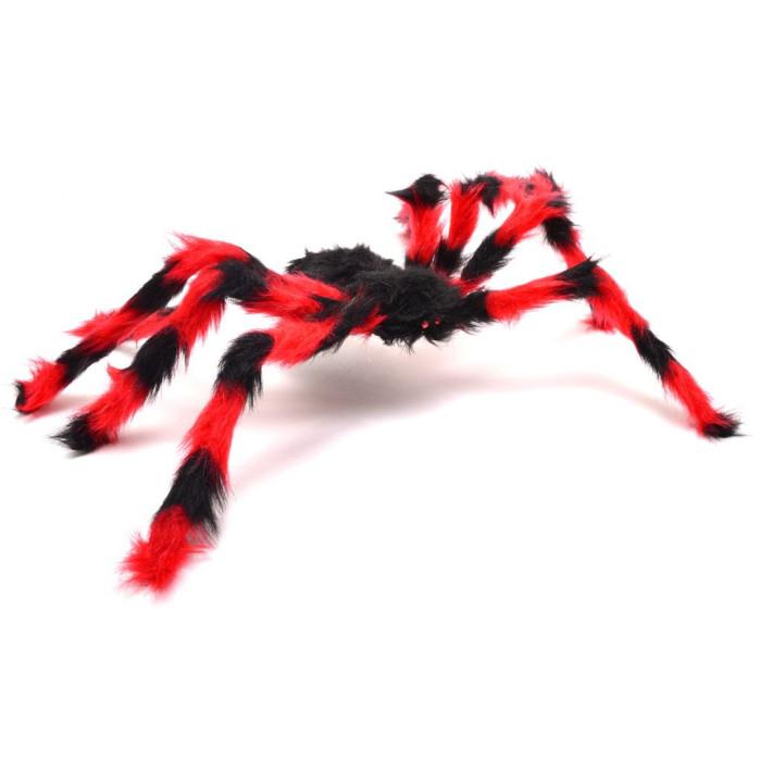 Парти аксесоар - паяк с черно тяло и цветни крака, подходяща за тематична декорация