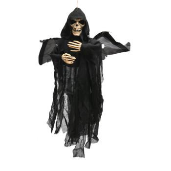 Парти артикул - скелет с черни дрехи, крила и светещи очи