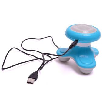 Мини масажор с USB накрайник, осъществява масаж в три точки