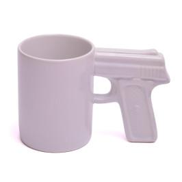 Забавна порцеланова чаша с дръжка - пистолет