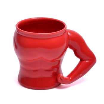Забавна чаша във формата на мусколест торс
