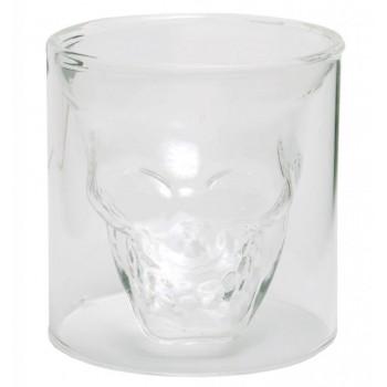 Забавна стъклена чаша с вграден череп