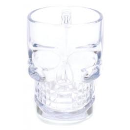 Забавна стъклена халба за бира във формата на череп
