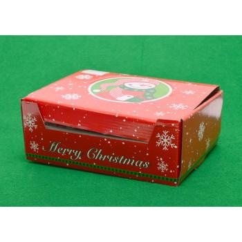 Декоративна фигурка - преспапие с Дядо Коледа върху основа с надпис Merry Christmas