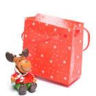 Декоративна коледна фигурка елен в подаръчна торбичка