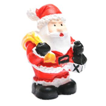 Декоративна фигурка - Дядо Коледа, в подаръчна торбичка, подходяща за тематична украса