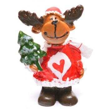 Декоративна фигурка - еленче, в подаръчна торбичка, подходяща за тематична украса