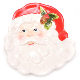 Красива чиния с Дядо Коледа, подходяща за празничната трапеза