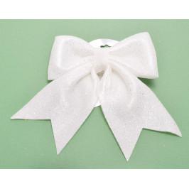 Коледна украса - бяла, блестяща пандела, подходяща за декорация