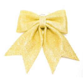 Коледна украса - златиста, блестяща пандела, подходяща за декорация
