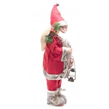 Декоративна фигура - Дядо Коледа с чувал и фенер