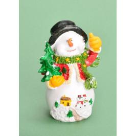 Фигурка от полирезин - снежен човек, подходяща за коледна декорация
