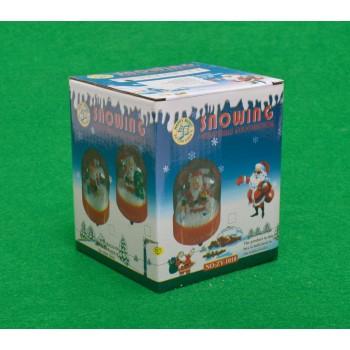 Декоративна фигурка - музикално преспапие с Дядо Коледа