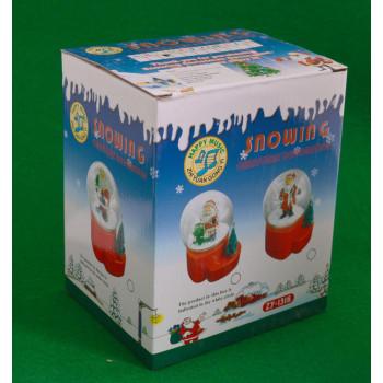 Декоративна фигурка - преспапие с Дядо Коледа и светеща елхичка