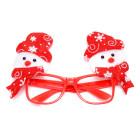 Червени Коледни очила, декорирани с коледни фигурки