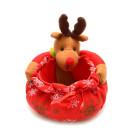 Коледна кошничка с еленче, подходяща за тематична декорация