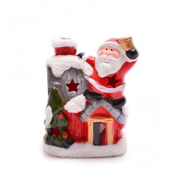 Декоративна фигурка - къщичка с Дядо Коледа или снежен човек