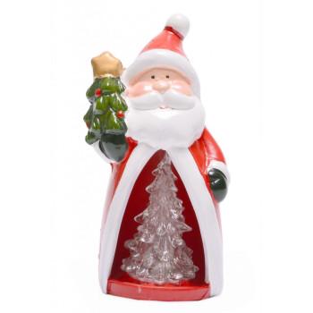 Декоративна фигурка - Дядо Коледа или снежен човек със светеща елхичка