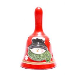 Забавна коледна камбанка, декорирана с Дядо Коледа или снежен човек