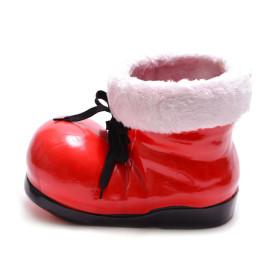 Декоративна коледна фигурка - червен ботуш, подходящ за тематична декорация