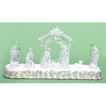Декоративна, светеща фигурка - сцена от Рождество Христово