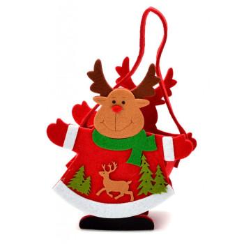 Декоративна фигурка - кошничка с дръжка - еленче и елхички