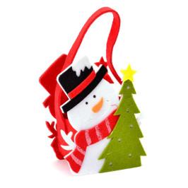 Декоративна фигурка - кошничка с дръжка - Дядо Коледа и елха