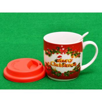 Керамична чаша за топли напитки с коледни мотиви