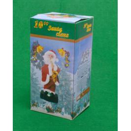 Светеща, музикална фигурка - Дядо Коледа с микрофон