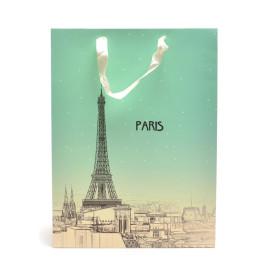Стилна подаръчна торбичка с изобразени световно известни сгради