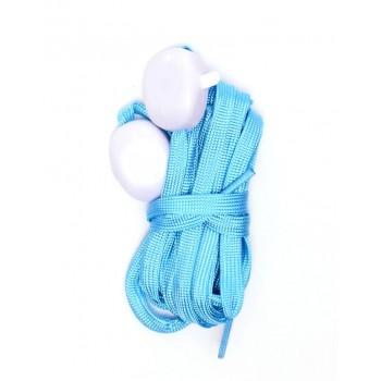 Светещи LED връзки за обувки - 2 бр - сини с бяла светлина