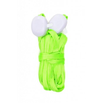 Светещи LED връзки за обувки - 2 бр - зелени с бяла светлина