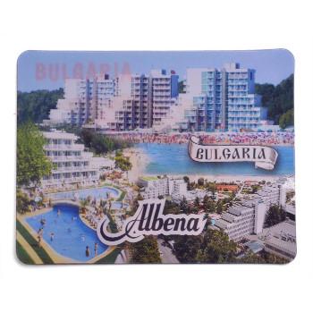 Магнитна пластинка с холограмни изображения - изгледи на хотели в Албена и три делфина