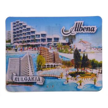 Магнитна пластинка с холограмни изображения - изгледни на хотели в Албена