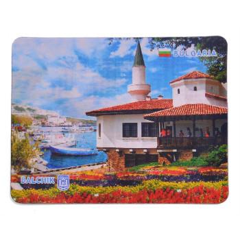 Магнитна пластинка с холограмни изображения - изгледи на хотели в Албена и двореца в Балчик