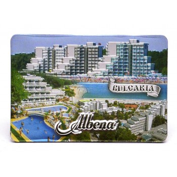 Магнитна пластинка - картичка - изгледи на хотели в Албена