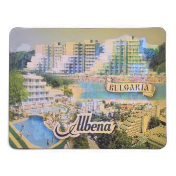 Магнитна пластинка с холограмни изображения - изгледи на хотели в Албена и карта на България с туристически забележителности