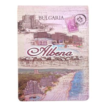 Сувенирен джобен тефтер, декориран с изгледи от Албена